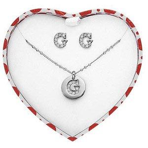 Guess Jewellery Damen-Set Halskette und Ohrstecker 760UBS10820