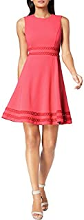 Calvin Klein Women's Fit and Flare Dress with Lace Detail at Waist & Hem CD8C412C