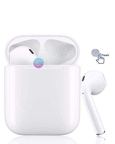 Écouteur sans Fil Bluetooth 5.0, Casque Bluetooth Intelligent, Microphone HD intégré et stéréo 3D, Fonction étanche IPX8, adapté pour Android et iOS Samsung Huawei iPhone.
