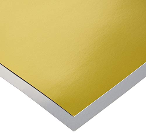 Hygloss Products Metallic Foil Board-10 Sheets, 8.5'x11' 5 Gold & 5 Silver