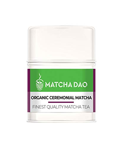 Organic Ceremonial Matcha 30G Tin | Finest Quality Matcha Tea | Healthy & Natural Green Tea