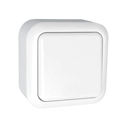 LEDKIA LIGHTING Interruptor de Superficie Simple de Cruzamiento Blanco