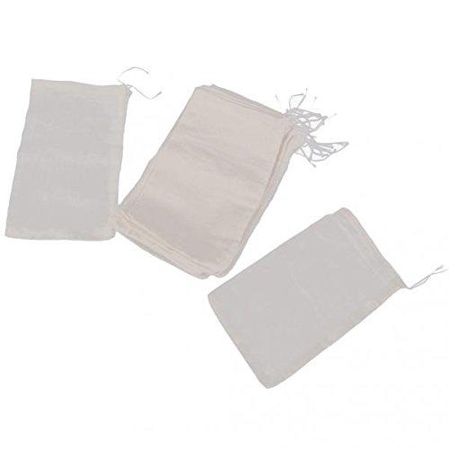 MagiDeal 40pcs Sac Filtre Réutilisables en Coton Etamine pour Thé Jus Lait 15x10cm
