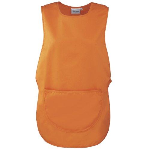 PREMIER Grembiule con Pannello Posteriore e Tasca Davanti - Indumenti dal Lavoro - Donna (M) (Arancio)