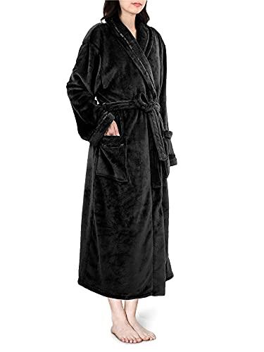 PAVILIA Plush Robe Women, Fluffy Soft Bathrobe, Luxurious Fuzzy Warm Spa Robe