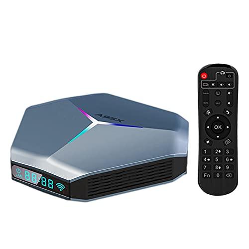Soaying A95X F4 Android 10.0 Caja de TV 2GB 16GB Amlogic S905X4 Quad Core A55 Dual WiFi 2.4G/5G Caja de TV Inteligente (Enchufe de la UE)