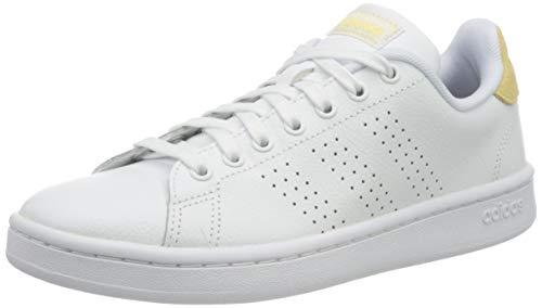 adidas Womens Advantage Sneaker, Ftwwht Ftwwht Orgtin,38 EU