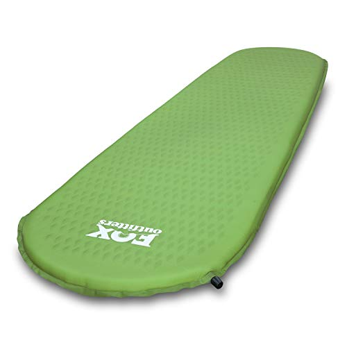 Fox Outfitters Ultralight Series Self Inflating Camp Pad - Perfect Foam Sleeping Pads for Camping, Backpacking, Hiking, Hammocks, Tents (Long)