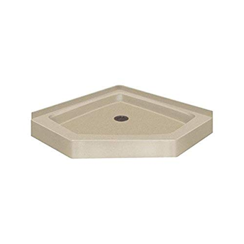 "Transolid PAN3838N-B2 38"" x 38"" Decor Solid Surface Shower Base in Matrix Sand"