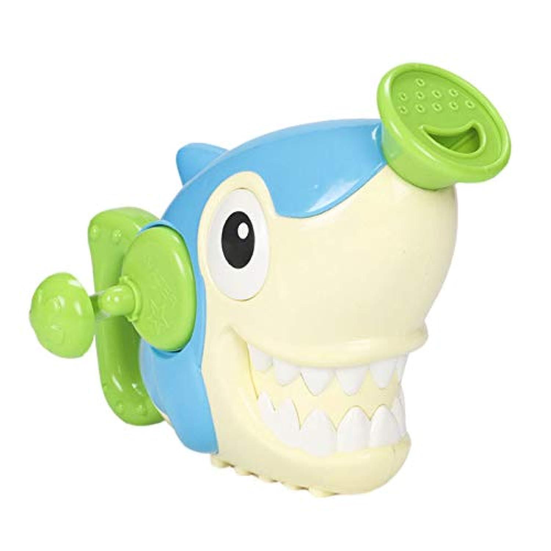 TOOGOO じょうろ風呂のおもちゃ、赤ちゃんのための水泳浴室風呂シャワーのツール、水、ハンドのスプレーのおもちゃ、36ヶ月の子供用のおもちゃ、サメ
