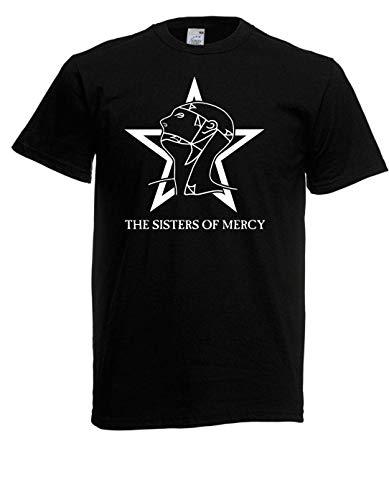 T-Shirt - Sisters of Mercy I The Worlds Ende Simon PEGG Retro 80s Jahre (Schwarz, 5XL)