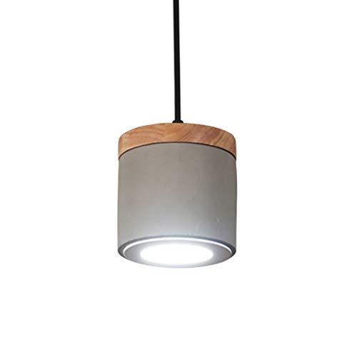 MIAOLELE Pendelleuchte, Hängelampe,Nordic Retro Zement Lampe Single Head Warm Einfache Kreative Persönlichkeit Einstellbare Restaurant Schlafzimmer Nachttisch LED Kleine Kronleuchter