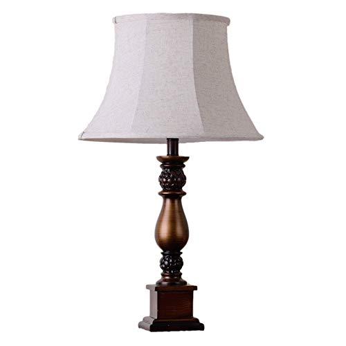 Lámpara Escritorio Lámpara de mesilla de noche tradicional vintage, lámpara de mesa de servicio de granja, iluminación nocturna de lectura en la sala de estar, mesita de noche del dormitorio familiar
