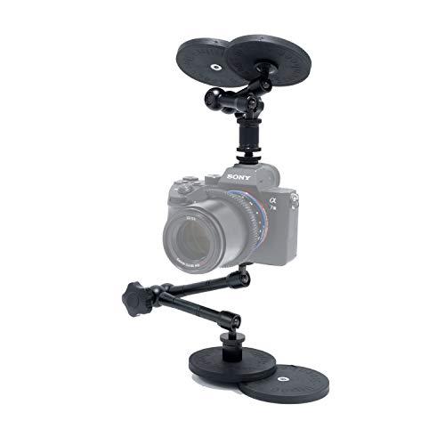 """Magnetische Halterung gummiert 88mm 1/4"""" Innengewinde Car Mount Set für Smartphone Actioncam DSLR Video Kamera 4er Set STEENBEEK"""