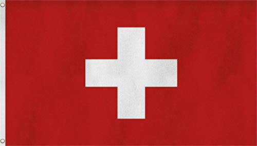 normani XXL Flagge Fahne, genäht in 150 x 250 oder 300 x 500 cm Farbe Schweiz Größe 150x250