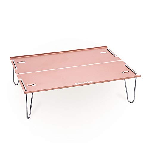 duoying Mesa de camping, plegable, portátil, ligera, plegable, con mesa de aluminio, mesa de picnic, plegable, para pícnic, camping, playa, pesca, barbacoa