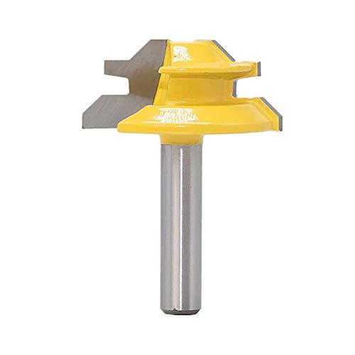 45 Grad Verleimfräser Gehrung Fräse,Lock Miter Router Bit Holzbearbeitung Fräser Schneidwerkzeug für Graviermaschine Trimmmaschine,8mm Schaft Oberfräser