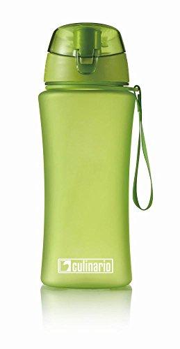 Culinario 2er Set Trinkflasche ice'Y aus Kunststoff, 500 ml, in grün, mit Silikon-Dichtungsring, Schraubverschluss, Hängeschlaufe