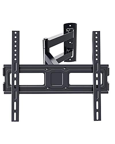 ERGO TAB - Soporte de pared articulado con extensión giratoria para la mayoría de televisores LED LCD OLED de 32 a 55 pulgadas y planos y curvos, brazo único con VESA hasta 15.748 x 15.748in hasta 77 libras (EBMFK7)