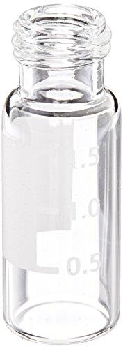 KIMBLE 331232sw Borosilikat Glas klar niederdruckflüssigkeitschromatographie Autosampler Flakon OHNE Schließungen, 9–425Gewinde Finish und Markieren Spot (Fall 2000Stück)