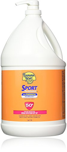 Banana Boat Sport Performance Broad Spectrum Sunscreen Lotion with Powerstay Technology, SPF 50, 1 Gallon Pump Bottle