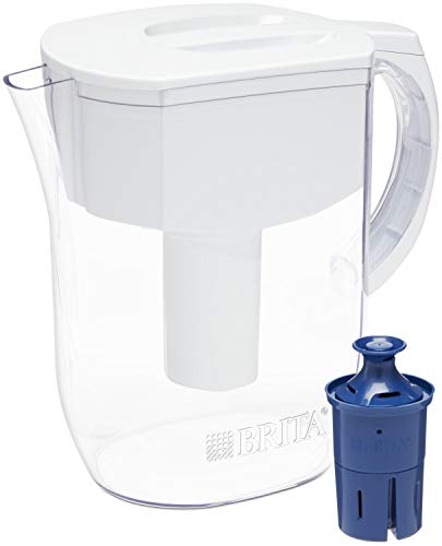 Brita Water Pitcher with 1 Longlast Filter, Large 10 Cup, White