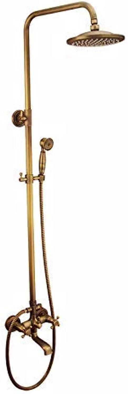FFWFW Antique Copper Adjustable Riser Rail Thermostatic Bar Mixer Shower Set,Photo