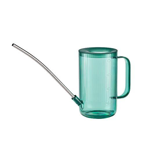 Ledeak Regadera de Plástico, 1 litros con Cuello Largo Boca Larga Pequeña Regadera de Plantas de Jardín Al Aire Libre Regadera Herramienta de Jardinería para Regar Plantas de Interior Exterior Verde