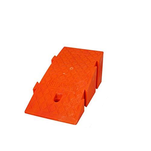 Dreieckige Straße den Hang entlang, Kunststoff Uphill Rampen thermoAußen Rampen Kinderfahrrad Rampen/Schraube Loch-Design (Color : Orange, Size : 25 * 45 * 19cm)