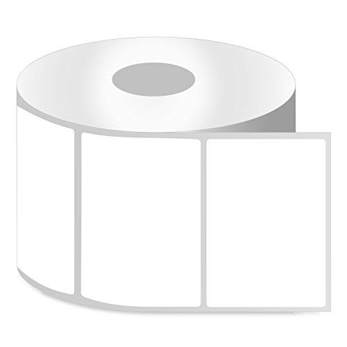 OfficeSmart Labels ZR1400300-4 x 3 Inch Removable Direct Thermal Labels, Compatible with Zebra Printers (4 Rolls, White, 500 Labels Per Roll, 1 inch Core)