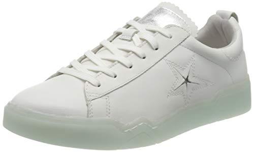 Tamaris Damen 1-1-23754-24 Sneaker, Weiß (White/Mint 154), 39 EU