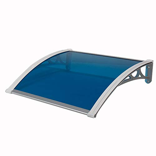 N / A Awning Rain Door Canopy, Rainproof Mute Suitable For Outdoor Doors And Windows, PC Endurance Board 4 Bracket Colors, Size Customization PENGFEI (Color : A, Size : 60cmx60cm)