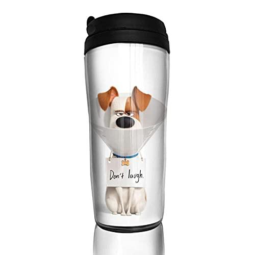 KINGAM The Secret Life of Pets Mike Tazas de café de viaje Calentador taza, personalizable, botella de agua con tapa, 350 ml