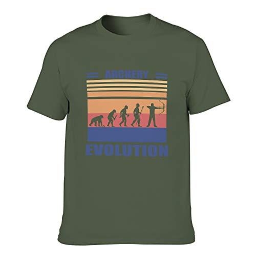 BTJC88 - Camiseta de algodón para hombre con arco con arco, divertido Hobby