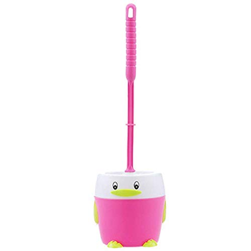 Cuarto de baño cepillo de baño con bases fuertes pingüino suministra productos de limpieza for el hogar herramientas higiene cepillo de mano de plástico sucio nueva en el baño Portaescobillas de mejor