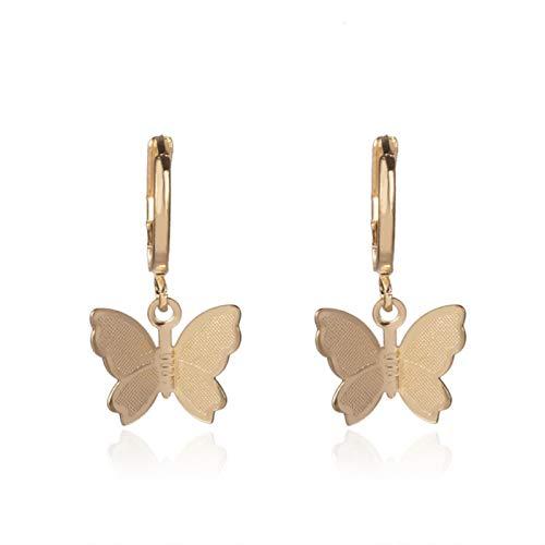 ASDFG, joyería Brillante para Fiesta, Regalo, Venta de Collar con Colgante de Mariposa pequeña para Mujer, Collar de Cadena Dorada para Mujer
