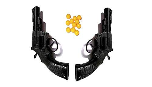 Humaira Mini Toy Gun with 8 Round Barell and 6 mm Plastic BB Bullets (40 Pieces) - (Set of 2)