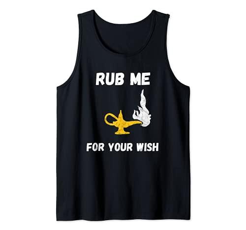 Divertido Genio Lámpara Deseos Aladino Disfraz Camiseta sin Mangas
