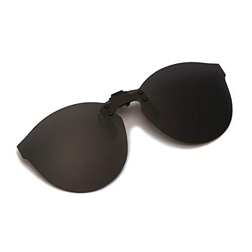 YAMEIZE Gafas de Sol Polarizadas con Clip Protección UV400 Antirreflejo Lente Sin Montura Abatible (Black)