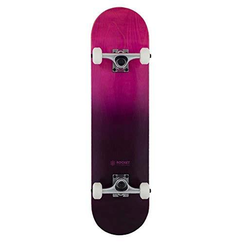 Rocket - Skateboard completo doppio tuffo, colore: Viola Nero 7,7 cm