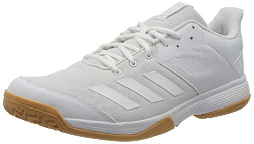 adidas Womens Ligra 6 Volleyball Shoe, Cloud White/Cloud White/Gum, 41 1/3 EU