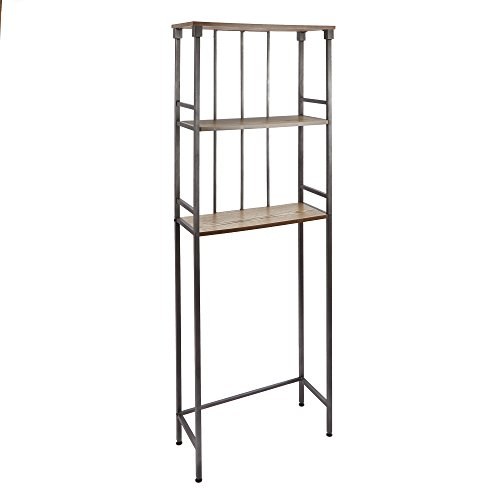Silverwood Mixed Material Bathroom Collection 3-Tier Spacesaver 3, 66' H, Gunmetal