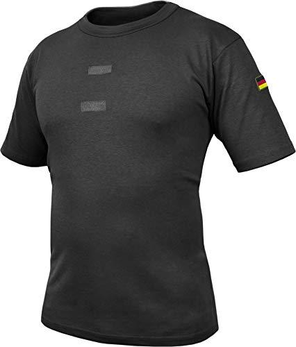 normani Bundeswehr Tropen T-Shirt mit Deutschlandfahnen und Klettstreifen Farbe Black Größe 8
