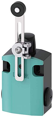 Siemens 3SE5 122-0CH50 International Limit Switch Complete Unit, Twist Lever, Adjustable Length, 56mm Metal Enclosure, Metal Lever, 19mm Plastic Roller, Snap Action Contacts, 1 NO + 1 NC Contacts