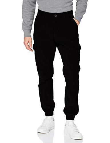 Urban Classics Herren Corduroy Cargo Jogging Pants Hose, Black, XXL