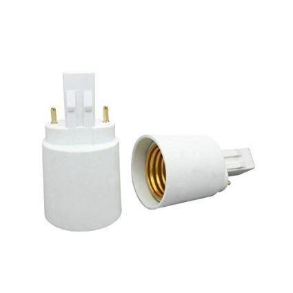 KAPATA GX23 Adapter GX23 To E27 Male GX23 Female E27 Socket LED Light Bulb Lamp Holder Adapter Plug Lampholder Pack of 5 Pcs