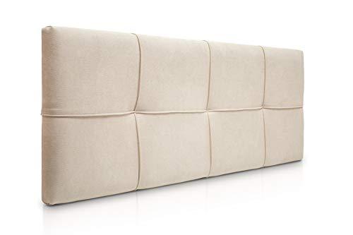 SUENOSZZZ-ESPECIALISTAS DEL DESCANSO Cabecero de Cama tapizado, Modelo Square para Camas de 150 (160 x 57 cm) Tela Beige