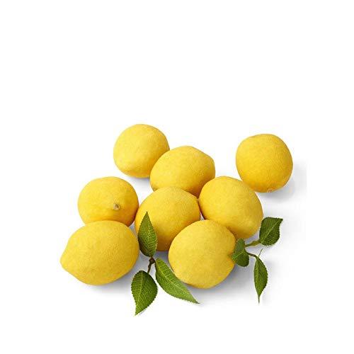Serene Spaces Living Deko-Zitronen mit Blättern, Zitronenimitat, 8 Stück