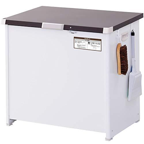 エムケー精工 マルチボックス 200L 屋外用 宅配ボックス 南京錠フック付き ダストストッカー 収納ボックス 物置 組立式 CLM-120C ホワイト