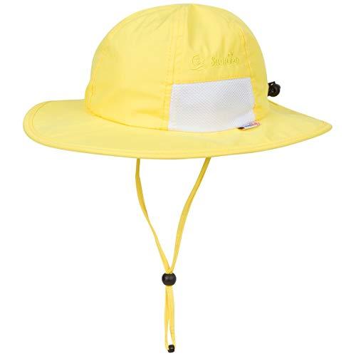 SwimZip Kid's Sun Hat - Wide Brim UPF 50+ Sun Protection Hat   Yellow 6-24 Month
